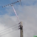 Well what can I say! 3 phase electric pole live! maybe they tied there horse to the pole as well