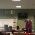 This job was to hang TV screens at Hall's offices in Shrewsbury