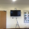 Four screens were mounted in total